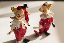 Porcelain Clowns, Colorful Clowns,