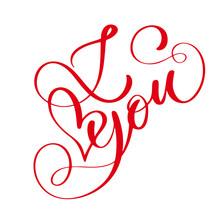 Phrase I Love You On Valentine...