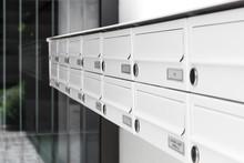 Closeup Of Modern Letterbox