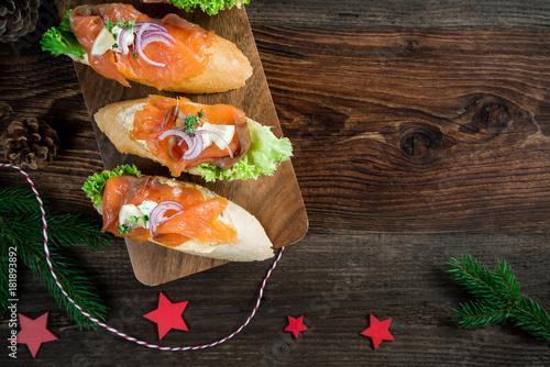 In de dag Buffet, Bar Buffet - Brötchen - Sandwich - Platte - Wurst - Käse - Lachs