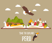 Tourist Poster Of Peru With La...