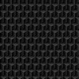 Czarne kostki. Bezszwowy wzór, geometryczny tło. iluzje optyczne. Ilustracji wektorowych - 181905671