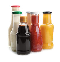 Bottles With Different Sauces ...