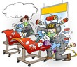 Cartoon illustration of Automators with all the equipment fitted correctly