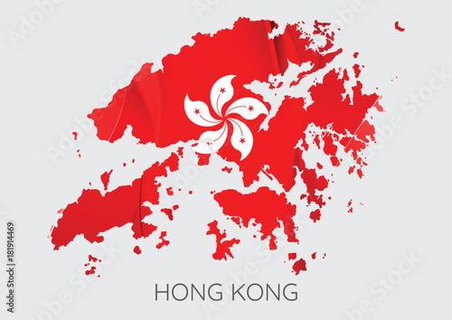 Map of Hong Kong Poster Mural XXL