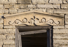 Carved Lintel Over Window On A...