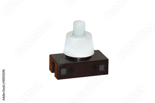 Plastic Push Button Switch For Table Lamp Isolated On White Background