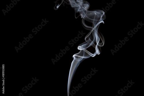 Fotobehang Rook Smoke volutes or flips