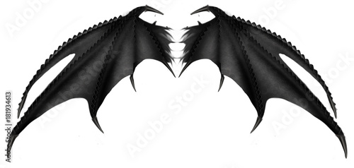 Foto  black dark demon wings 3 vampire bat