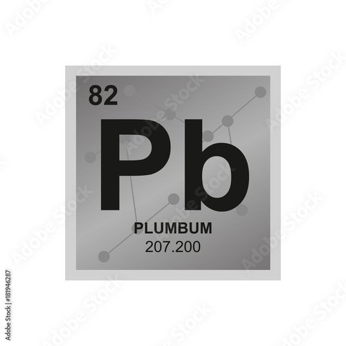 Vector Symbol Of Lead From The Periodic Table Of The Elements On The