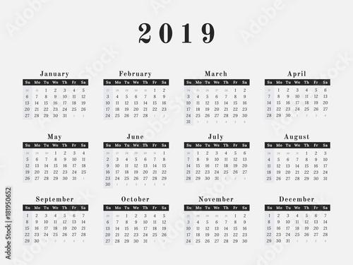 all year calendar