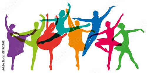 danse - danseuse - danseur - ballet - danse classique - silhouette - opéra - opé Canvas Print