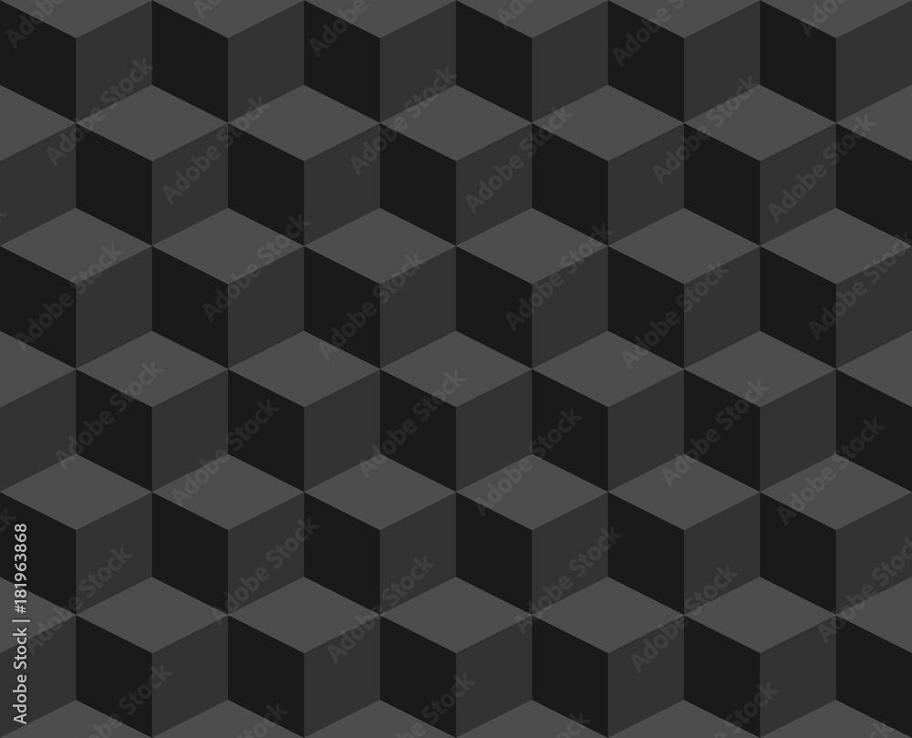 Fototapeta Seamless geometric cubic vector background,Abstract  mosaic wallpaper.