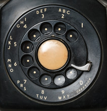 Close Up Of Old Rotary Dial On...