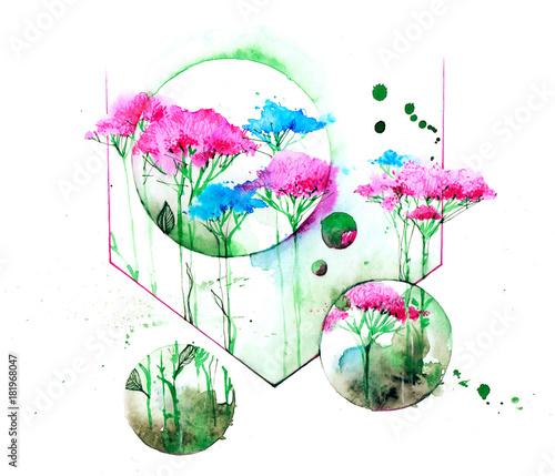 Keuken foto achterwand Schilderingen wildflowers