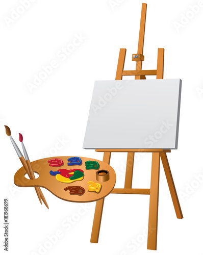 Photo  easel and palette