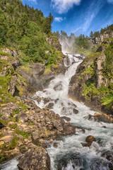 Obraz na Szkle Góry Latefossen Waterfall, Norway