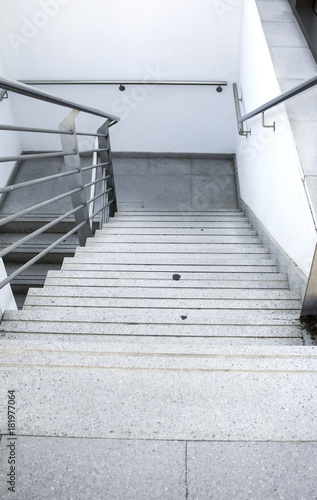 Foto op Plexiglas Trappen Interior metal stairs