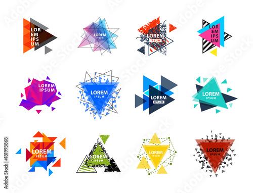 Sacred geometry triangle abstract logo figures elements mystic polygon creative Fototapeta