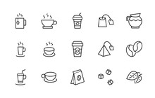 Set Of Coffee And Tea Vector L...