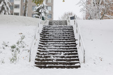 Slippery Stairs After First Sn...