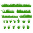 Grass Borders Set, Green Tufts vector