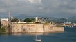Sea gulf and fortress. Fort-de-France, Martinique