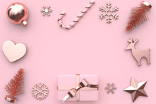 Gift Box And Christmas Element...