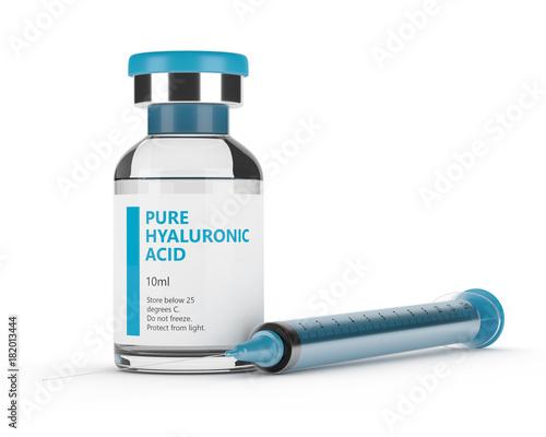3d render of hyaluronic acid vial and syringe Wallpaper Mural
