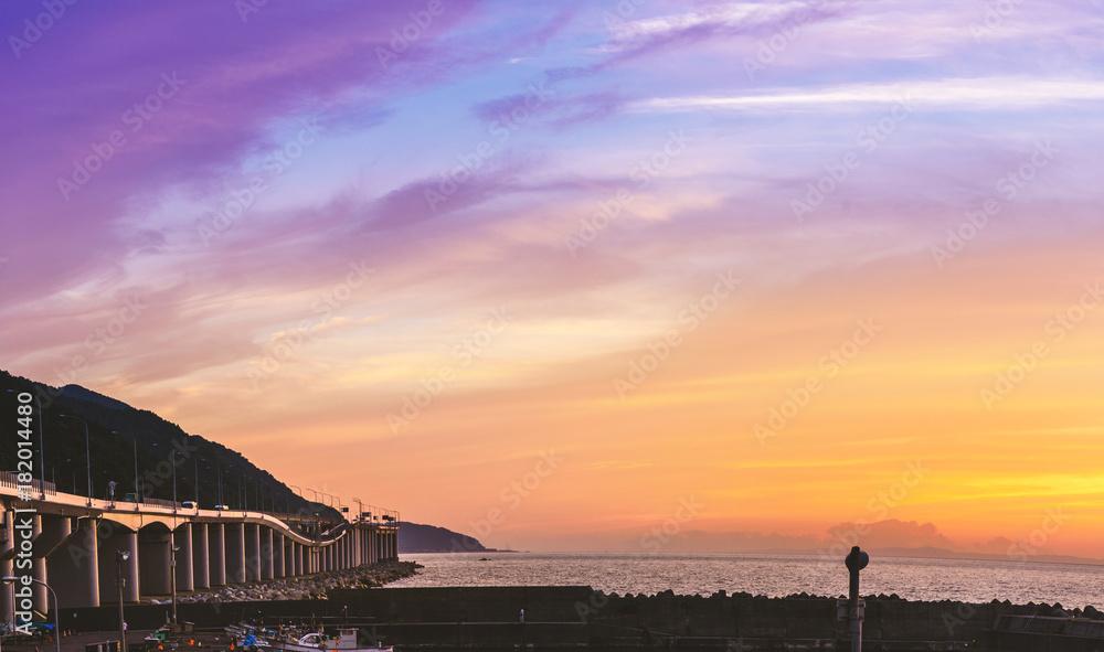 Fototapety, obrazy: 夕焼けの海