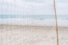 Beach Volleyball Net Close-up - Selective Focus