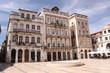 Portugal, esplanade de la place de Maio à Coimbra