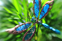 Artificial Butterfly In A Plant