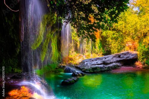 Fototapeten Wasserfalle Kursunlu Waterfalls Turkey