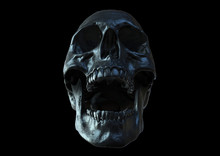 Skull Screaming Isolated In Black Background 3d Render
