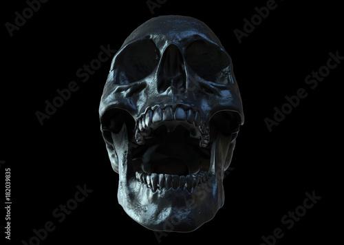Fototapeta Skull screaming isolated in black background 3d render