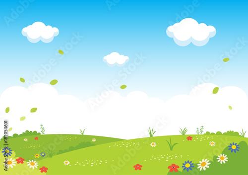 Flat Landscape Vector Illustration - 182054601