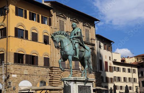 Obraz na dibondzie (fotoboard) Equestrian statua Cosimo Ja w Florencja, Włochy