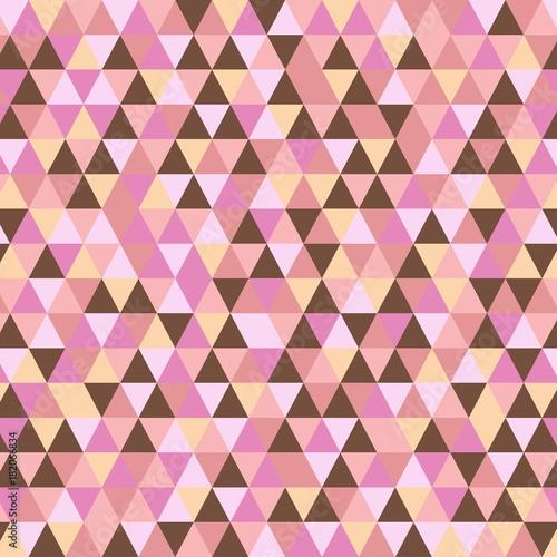 jednolity-wzor-trojkata-geometryczny-abstrakcjonistyczny-tekstury-tlo-rozowy-brazowy-i-cukierkowy-pastelowy-kolor-ilustracji-wektorowych