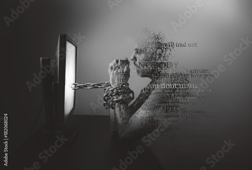 Photo  Pain of cyber bullying
