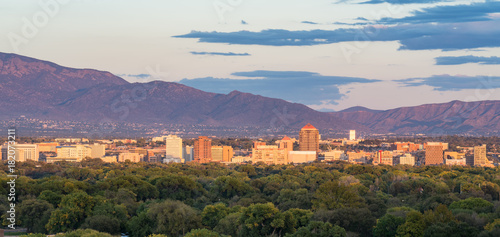 Albuquerque, New Mexico Skyline Canvas Print