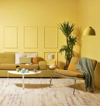 Yellow Wall Modern Interior Style