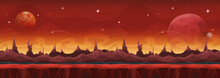 Fantasy Wide Sci-fi Martian Background For Ui Game