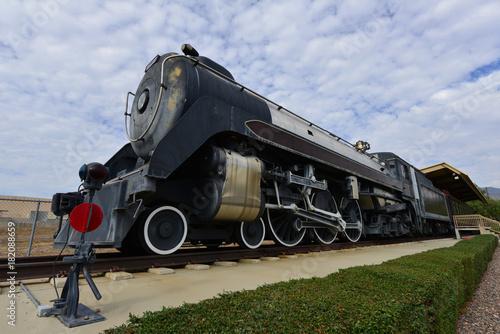 Valokuva  A vintage steam locomotive in America