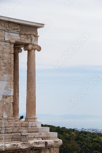 Fotografija  Athena temple of apteros nike in the Acropolis of Athens Greece