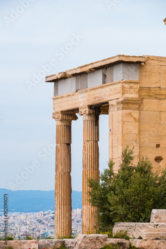 Fotografija  Athena ancient temple of apteros nike in the Acropolis sacred hill of Athens Gre