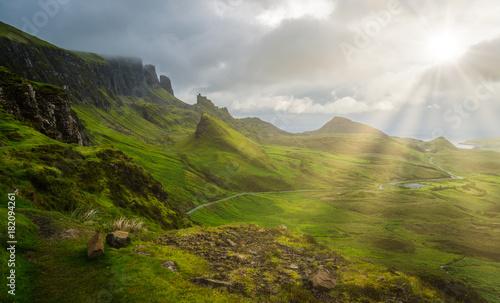 Fotografia Scenic sight of the Quiraing, Isle of Skye, Scotland.