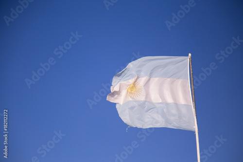 Plakat flaga argentyńska