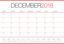 December 2018 Planner Calendar...