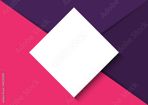 Abstract trendy paper cut layout template background and white ...